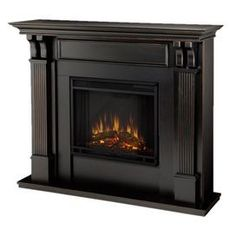 Ashley Electric Fireplace in Black Wash