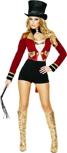 Sexy Glamorous Circus Ringleader Ringmaster Halloween Costume Outfit Adult Women #Roma #CompleteCostume