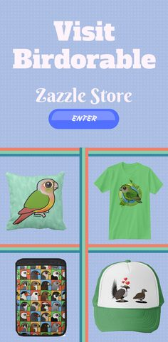 Visit Birdorable Zazzle Store for trendy and cool bird design on many different product. Random Stuff, Cool Stuff, Bird Design, Store, Collection, Cool Things, Tent, Shop Local, Larger