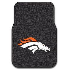 Denver Broncos NFL Car Front Floor Mats (2 Front) (17x25)