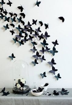Butterflies on the wall, awesome effect