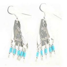 Ohrhänger aus Sterling Silber - Navajo Pattern.