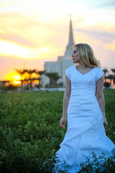 Gilbert AZ Temple Wedding - pretty sunset view and perspective