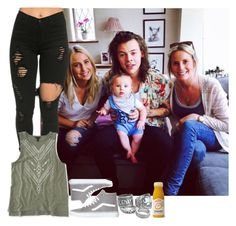 """""""Spending time with Harry and his family"""" by sychie ❤ liked on Polyvore featuring Aéropostale and Vans"""
