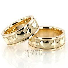 cross - Christian Wedding Rings