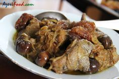 Azerbaijani Lamb Stew with Chestnuts and Dried Plums (use fresh pure grape juice and coconut oil)
