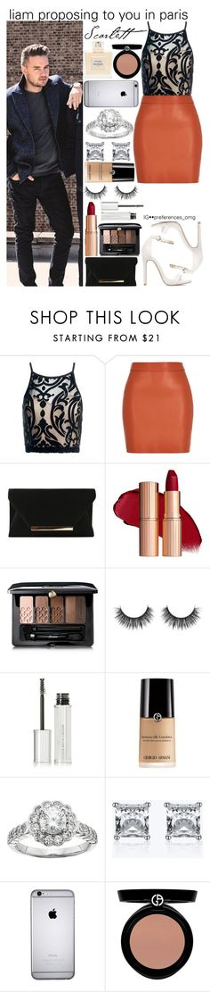 """""""Untitled #996"""" by fatima-styles102 ❤ liked on Polyvore featuring Sans Souci, Guerlain, Givenchy, Diamonore, Balmain and Giorgio Armani"""