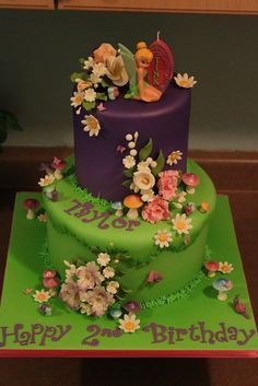 Tinkerbell Cake! Andrea's SweetCakes on Flickr is such a talented lady