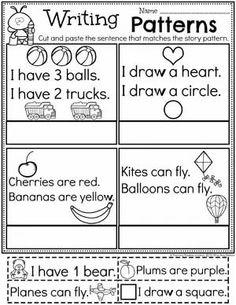 Kindergarten Writing Worksheets - Story Patterns pg 2 #planningplaytime #kindergartenworksheets #writingworksheets #kindergartenwriting