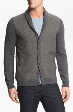Again, great with a tee or a dress/button up shirt.  Ted Baker London 'Bosport' Shawl Collar Button Cardigan   Nordstrom