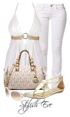 """amal"" by stylisheve ❤ liked on Polyvore featuring Replay, MICHAEL Michael Kors and Nine West"