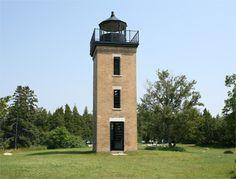 Peninsula Point Lighthouse, Michigan at Lighthousefriends.com
