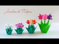 Origami Flower Tutorial - How to fold a Tulip Flower - YouTube
