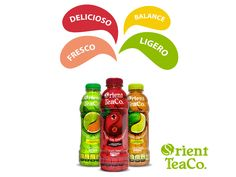 #VidaSaludable Disfruta lo mejor de la vida con Orient Tea. NUEVAS EXPERIENCIAS DE SABOR. Orient Tea lo puedes consumir en todo momento, ya que es una bebida saludable. Te sugerimos tomarlo para acompañar tus alimentos en cualquiera de sus tres deliciosos sabores: Té verde con cítricos, Té rojo con arándanos y Té negro con limón. ¡Refréscate sanamente con Orient Tea!