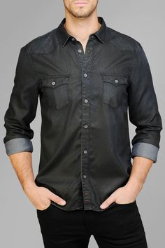 Coated Western Shirt In Deep | 7 For All Mankind