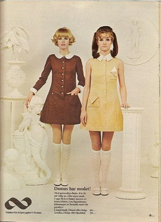 7b680598af2b White Collar Mini-Dresses 1960s Fashion