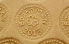 Gold Coin Cookies made with a custom cookie stamp; tutorial