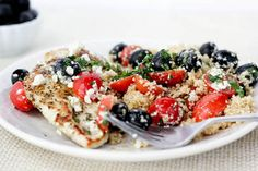 Pan-Grilled Chicken with Olives and Tomatoes