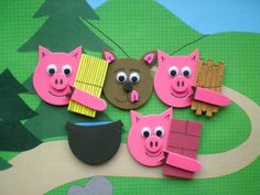 three little pigs easy to make puppets - cute!