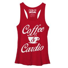 CHIN UP Women's - Coffee and Cardio Racerback Tank www.chinupapparel.com