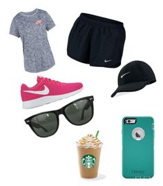 """Tessa"" by cabshshhsyshs on Polyvore featuring NIKE, OtterBox and Ray-Ban"