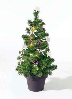 Tannenbaum 80x40 (H/Ø) grün / weiß