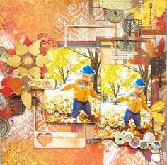 Bo Bunny Farmers Market Mixed Media Layout by Shizuka Hirano