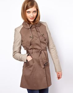 ASOS Contrast Sleeve Trench