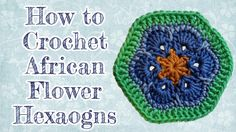 New Crochet Slippers Granny Square African Flowers Ideas Crochet Small Flower, Crochet African Flowers, Crochet Flowers, Hexagon Crochet Pattern, Crochet Motif, Crochet Patterns, Irish Crochet, Free Pattern, Crochet Baby Hats