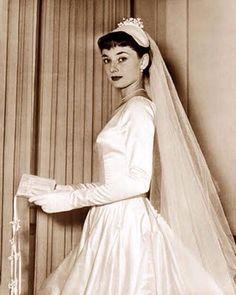 Audrey Hepburn on wedding day