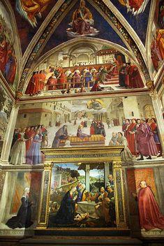 Santa Trinita  Domenico Ghirlandaio  Sassetti Chapel  Florence, Italy