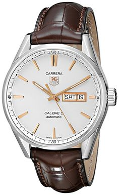 TAG Heuer Men's WAR201D.FC6291 Carrera Analog Display Analog Quartz Brown Watch