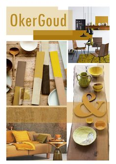 collage trendboek. okergoud