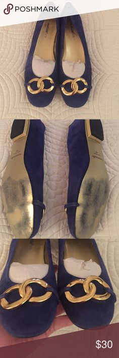 Matisse Size 10 Ballet Flats Excellent condition royal blue shoes with gold detail. Worn only twice. So much more love to give! Purchased at Nordstrom. matisse Shoes