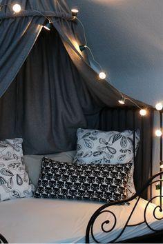 interiordesign lichterkette himmelbett betten pinterest himmelbett lichterkette und. Black Bedroom Furniture Sets. Home Design Ideas