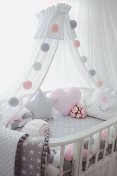 Pottery Barn Kids' bedroom furniture is designed for quality and safety. Find furniture for kids and babies to decorate with timeless style. Changing Tables Baby Bedding and Nursery Lighting at Walmart Baby Furniture Sets - June 15 2019 at Baby Room Decor, Nursery Room, Nursery Gray, Child's Room, Baby Girl Nursery Pink And Grey, Nursery Decor, Room Baby, Baby Nursery Diy, Nursery Fabric