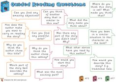 Perfect for using after guided reading to assess pupil's understanding of the book.