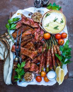 Out of frame is a full-bodied red, grilled garlic toast, & Chance the Rapper jams. Beef Recipes, Cooking Recipes, Healthy Recipes, Good Food, Yummy Food, Food Platters, Meat Platter, Food Presentation, Food Inspiration