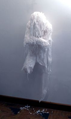 Discarded Plastic Bags Sculptures by Khalil Chishtee Plastics Recycled Art