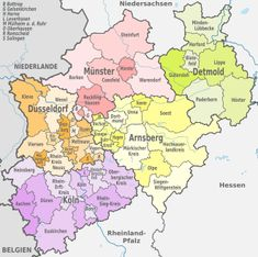 Administrative divisions map of Lower Saxony Maps Pinterest