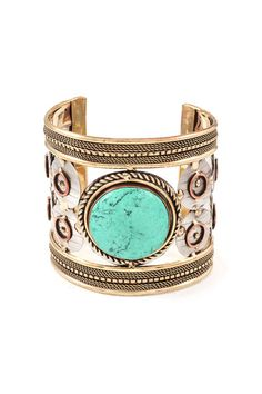 Turquoise Enna Braclet on Emma Stine Limited
