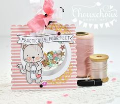 Video on how to make a window shaker card with the WRMK FuseTool Plastic Packaging, Cat Cards, Shaker Cards, Art Tips, I Card, Free Printables, Card Making, Teddy Bear, Kitty