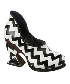 Black & White Botoxic Leather Pump | zulily
