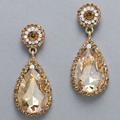Elizabeth Earrings in Champagne on Emma Stine Limited