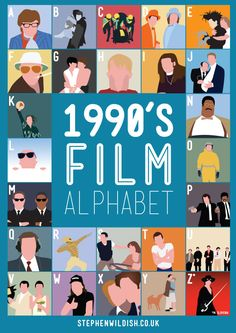 'Film Alphabet', Posters That Quiz Your 1980s, 1990s Movie Knowledge - DesignTAXI.com