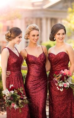 8884 Floor Length Sequin Bridesmaid Dress by Sorella Vita Christmas wedding inspiration by Magpie Wedding Sorella Vita Bridesmaid Dresses, Red Bridesmaids, Burgundy Bridesmaid, Mismatched Bridesmaid Dresses, Bridesmaid Dresses Online, Wedding Bridesmaid Dresses, Christmas Bridesmaid Dresses, Prom Dresses, Winter Wedding Bridesmaids