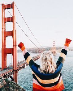 San Fransisco exploring in the cutest rainbow sweater Outdoor Pics, Adventure Awaits, Adventure Travel, Oh The Places You'll Go, Places To Travel, Travel Destinations, Foto Top, San Fransisco, Ubud