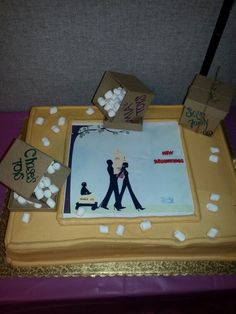 Going away party cake idea...