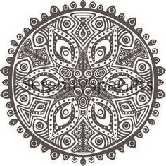 Mandala Art Coloring Page Or Henna Tattoo Download Printable Custom Size Vector