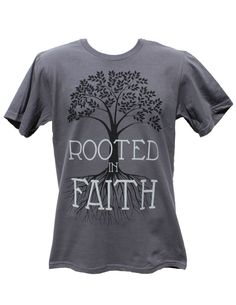 Christian T Shirt Rooted In Faith, Ring Spun Cotton Men's T-Shirt, Christian Shirt, Christian TShirt, Printed in the USA by ToLiveLikeJesus on Etsy https://www.etsy.com/listing/194607041/christian-t-shirt-rooted-in-faith-ring